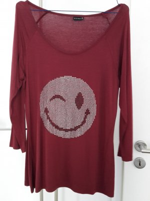 Shirt Bodyflirt weinrot 40/42 Smiley