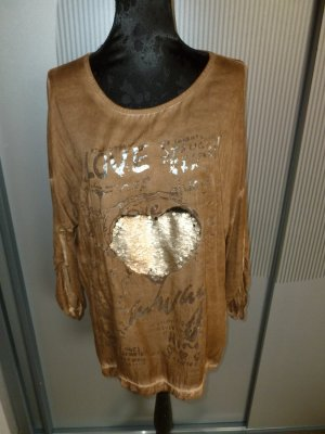 Shirt braun Herz your&self