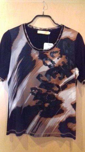 Biba T-Shirt black-brown viscose