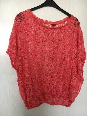 Buffalo Mesh Shirt neon red-raspberry-red