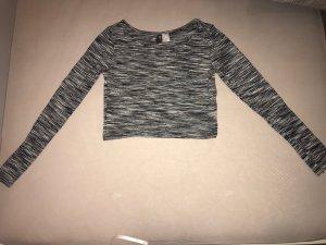 H&M Cropped shirt wit-zwart