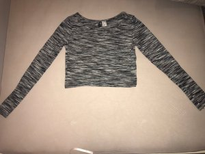 H&M T-shirt court blanc-noir