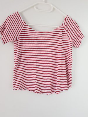 Clockhouse Ribbed Shirt white-red