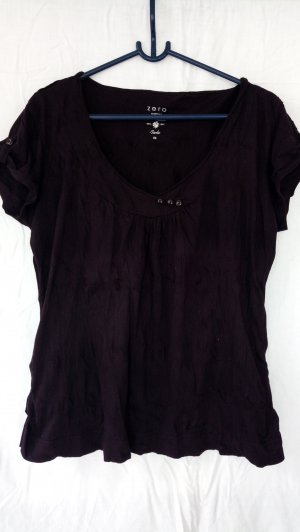 Zero V-Neck Shirt brown violet