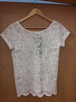 Shirt Cubus Tshirt Größe S weiß spitze