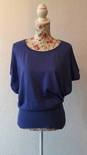 H&M Divided Camicia lunga blu acciaio-blu fiordaliso