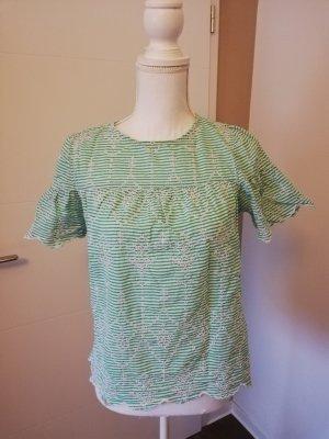 New Look Gestreept shirt wit-groen