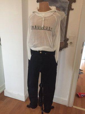 H&M Divided Hooded Shirt white