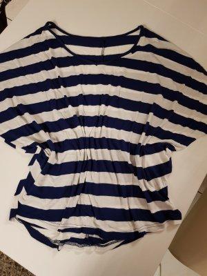 Gestreept shirt wit-blauw