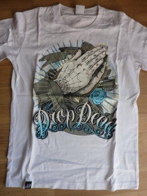 Shirt Drop Dead RocknRoll Hands Oberteil Shirt M 38 40 NEU OVP