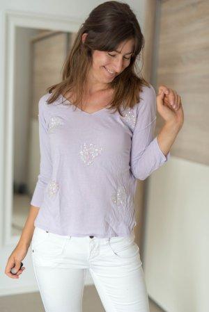 Shirt Dünner Pulli Twin Set Jeans Simona Barbieri flieder S
