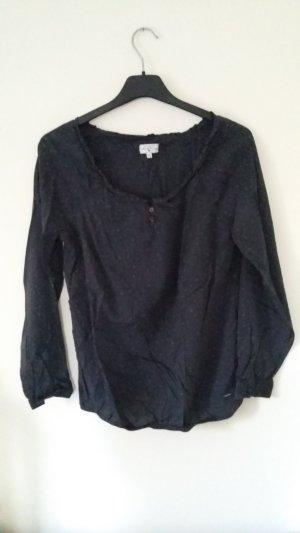 Shirt dunkelgrau anthrazit mit Sternenprint von Tom Tailor Größe 40