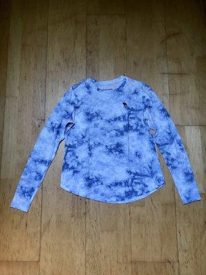 Abercrombie & Fitch Longesleeve wit-korenblauw