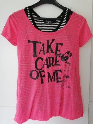 100% Fashion T-shirts en mailles tricotées rose