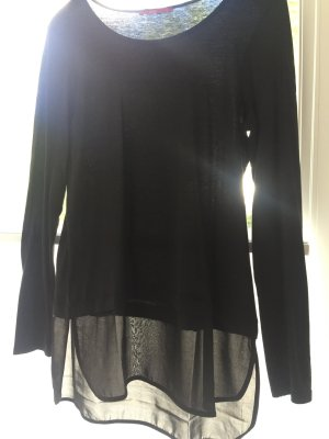 edc by Esprit Camisa larga negro Algodón