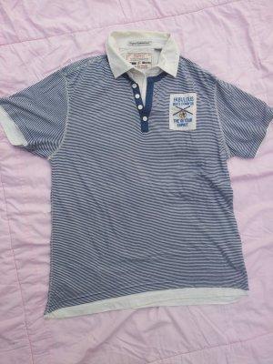 Shirt Esprit Gr. XL maritim weiß blau Streifen