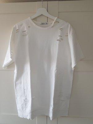 Bershka Top extra-large blanc cassé