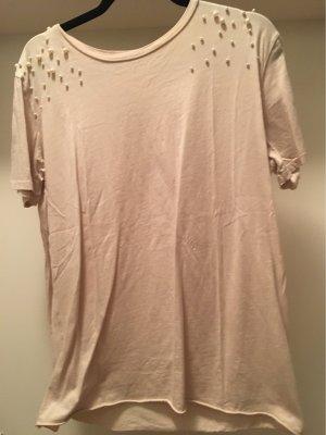 Zara Trafaluc Camicia lunga bianco sporco-crema
