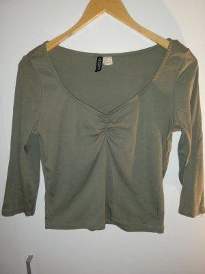 H&M Long Shirt sage green