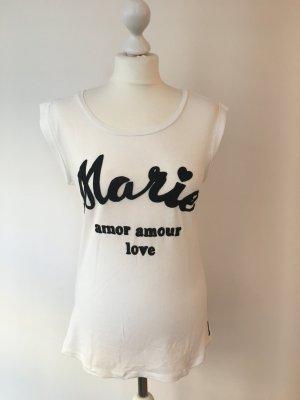 Shirt Flockdruck, Maison Scotch, Gr. 36 NEU