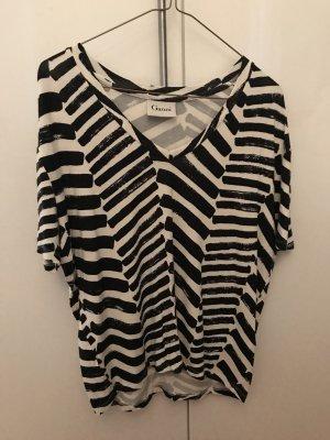 Ganni Camiseta negro-blanco
