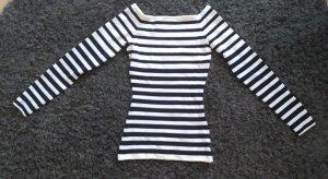 H&M Premium Camisa de rayas blanco-azul oscuro