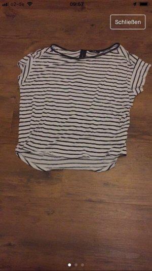 Opus Oversized Shirt white-black