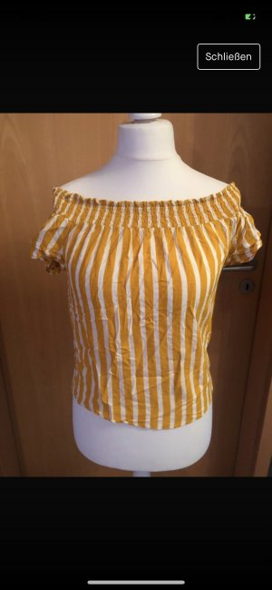 Pimkie Camisa tipo Carmen naranja claro-blanco