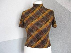 Shirt, gestreift, einzigartig, braun,orange, stretch,Größe M/L