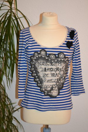 Shirt gestreift Frontprint 3/4 Arm Vero Moda Blogger Hipster