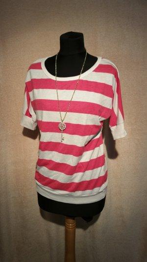 Shirt gestreift weiss pink