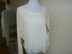Boatneck Shirt white-gold-colored viscose