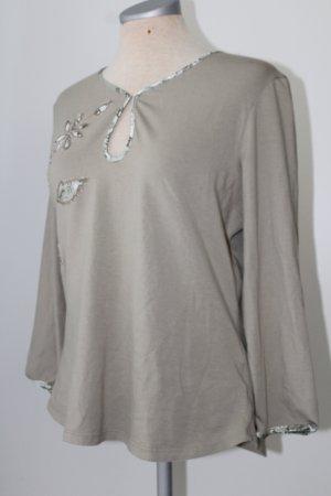 Next Camisa tipo túnica gris verdoso Algodón