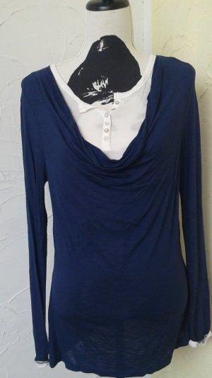 John Baner Waterval shirt petrol-blauw