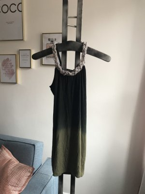 Long Shirt black-dark green