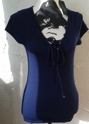 Amisu V-hals shirt donkerblauw