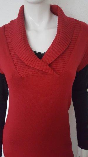 T-shirt jurk donkerrood