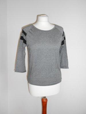 Shirt Gr XS grau meliert von H&M