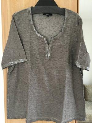 Shirt grau mit Pailletten