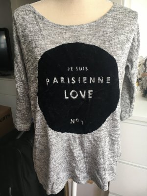 H&M Long Shirt silver-colored-black
