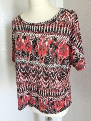 Shirt, Größe 36 rot schwarz  weiss Oversize