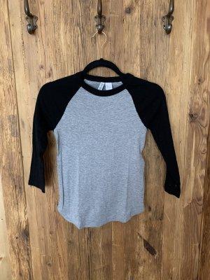 H&M Longsleeve black-grey