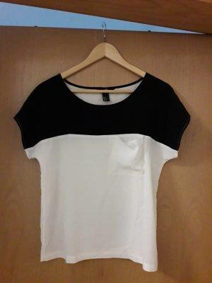 H&M Camicia a tunica bianco-nero