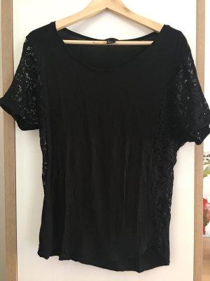 Shirt H&M schwarz S Spitze