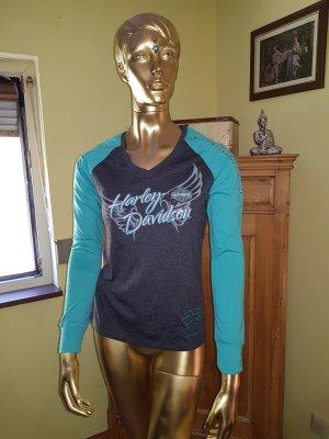 Harley Davidson Print Shirt anthracite-turquoise