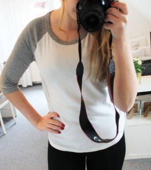 Shirt hellgrau/weiß
