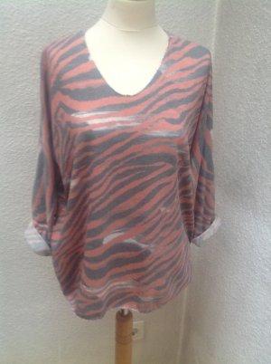 Camisa holgada multicolor tejido mezclado