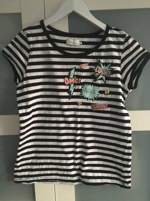 Shirt im schwarz-weiß Streifenlook