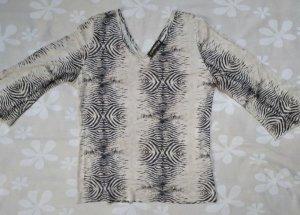 Capriccio V-hals shirt bruin-licht beige Acetaat