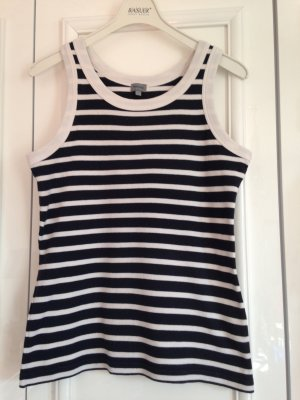 Montego Stripe Shirt white-blue cotton